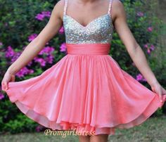 Watermelon Homecoming Dress Short Watermelon by Promgirlsdress, $129.00