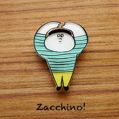 Zacchino!のゆるいオリジナルイラストをブローチにしました。線、着色ともにひとつひとつ手作業で丁寧に仕上げています。「いいよー」うんうん、OK!いいよー...|ハンドメイド、手作り、手仕事品の通販・販売・購入ならCreema。