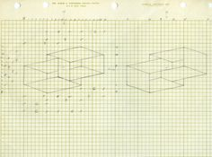"""Josef Albers, preparatory drawing for """"Two Supraportas"""", 1972, Josef and Anni Albers Foundation Archives"""