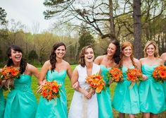 country wedding bridesmaid dresses | By Maggie Lord In: Country Weddings , Real Rustic Country Weddings