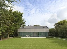house Zeeland wood structure glass and wood facade