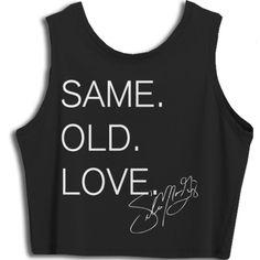 4117be76 Selena Gomez Merchandise Selena Gomez Merchandise, Crop Tank, Tank Tops,  Same Old Love