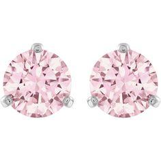 Swarovski Solitaire Pierced Earrings Pink 5112158 Duty Free Crystal Jewelry