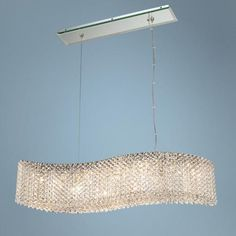 Schonbek Refrax Wave Crystal Pendant  By Lamps Plus