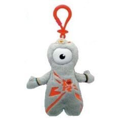 Wenlock Olympic Mascot - soft toy keyring