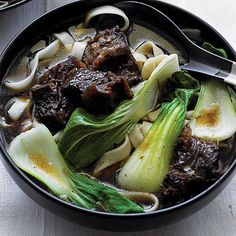 Time: 3 1/2 hours, plus 1 hour to marinate. This rich, hearty dish is based on the Szechuan beef noodle soup at Queen's House in Mountain...