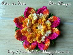 Crochet flower by Artes da Desi