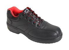 Portwest ESD Cuir Low Cut Chaussure de sécurité S1 Non Métallique embout noir FC02