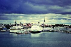 Tallinn Harbor and Old City Old City, Lithuania, Finland, San Francisco Skyline, Bucket, Europe, Places, Travel, Beautiful