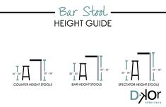 Right Bar Stool Height -  Heights of bar stools