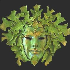 large greenman mask - Google Search