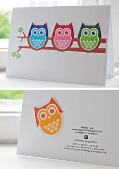 Gi det videre: Alle gode ting er (ugler i et) tre Cute Cards, Diy Cards, Free Mothers Day Cards, Diy Paper, Paper Crafts, Free Printable Stationery, Printable Party, Mother's Day Printables, Owl Books