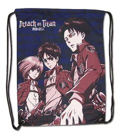 Attack On Titan Eren, Levi, & Armin Drawstring Bag: Cet article Attack On Titan Eren, Levi, & Armin Drawstring Bag est apparu en premier…