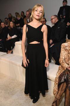 WHO: Sienna Miller  WHAT: Ralph Lauren  WHERE: Ralph Lauren Fall 2016 show  WHEN: February 18, 2016