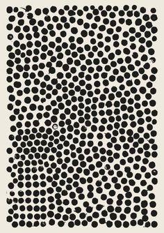 Lots of Dots Artwork | Black and White Decor | Polka dot artwork