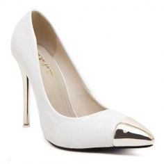 Sexy Stone Pattern and Metal Toe Design Women's Pumps