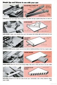 5 Simple Table Saw Jigs