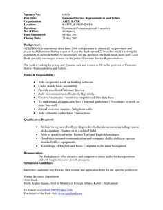 Sample Resume For Cook Position Enchanting Awesome One Of Recommended Banking Resume Examples To Learn .