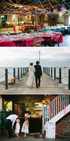 Bohemian Bride for an edwardian mexican themed wedding at The Lobster shack in Whitstable 0567