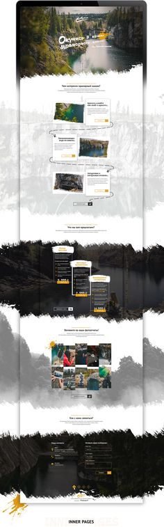 This project is a website concept for travel agency Akvarel that sells tours in Ruskeala marble canyon. Ruskeala is the most popular tourist object in Karelia. This place is surprisingly beautiful. Steep marble rocks on the coast and crystal-clear emerald…