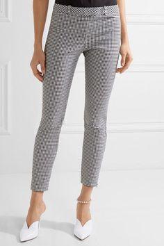 Altuzarra - Henri Gingham Cotton-blend Skinny Pants - Black - FR42