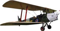 Tiger Moth vintage plane transparent image Aircraft image