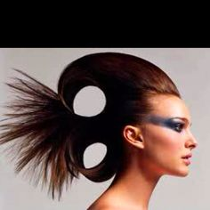 High fashion hairstyle