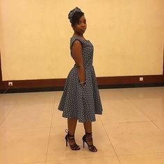 Recent shweshwe dress patterns, whichever you choose - Reny styles Seshweshwe Dresses, Short Dresses, Latest Traditional Dresses, Traditional Clothes, How To Make Skirt, Africa Fashion, African Attire, African Women, Dress Patterns