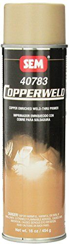 SEM 40783 Copperweld Weld-Thru Primer - 16 oz. Copper and zinc enriched Exceptional conductivity Minimizes the heat zone Reduces distortion and splatter Superior corrosion protection Great sprayability and coverage Fast drying Paint Supplies, Car Painting, Restoration, Primers, Bottle, Copper, Awesome, Link, Primer