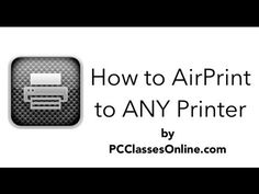 How to Print to ANY Printer from iPhone, iPod, iPad via Windows - YouTube
