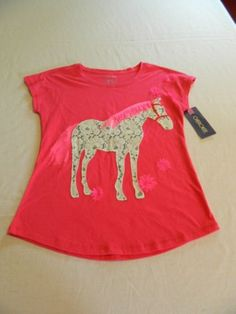 New-With-Tags-Back-To-School-Cherokee-Girls-Horse-Short-Sleeve-Shirt-Size-10-1