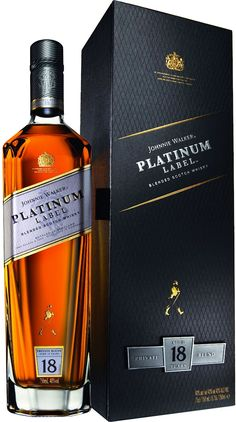 Johnnie Walker Platinum Label #Scotch Whisky.  Aged for a minimum of 18 years, this #whisky earned five stars from F. Paul Pacult's Spirit Journal.   @Caskers