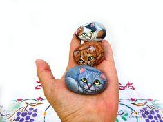 Stone painting by Ernestina Gallina
