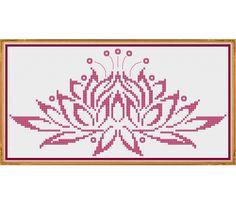 Water Lily  Counted Cross Stitch Pattern X-Stitch PDF