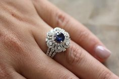 18k white gold round diamond and round salon by eternaltouch
