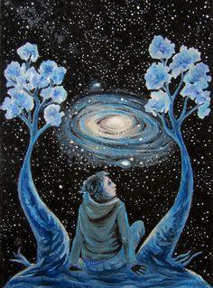 """Galaxen"" Oljepastellkrita av Sia Painting, Art, Creative, Art Background, Painting Art, Kunst, Paintings, Performing Arts, Painted Canvas"