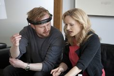 Instruktør Jonatan Spang og skuespillerinde Mille Lehfeldt. TalentTyven har premiere den 11. oktober 2012.  Copyright SF Film