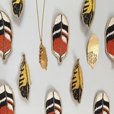Titlee x Coral & Tusk feather necklace and pin