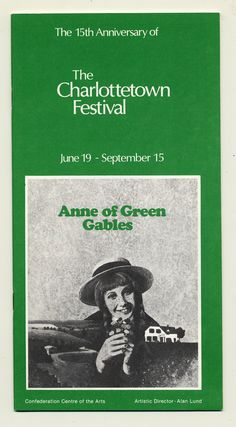 1979 brochure cover, Anne of Green Gables - The Musical™ at Confederation Centre of the Arts.