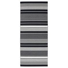 Ideal for high traffic areas like hallways since the rug is easy to vacuum and maintain. The rug is made of wool so it's naturally soil-repellent and very durable. Living Room Furniture Online, At Home Furniture Store, Modern Home Furniture, Black White Stripes, Black And White, Ikea Rug, Vintage Dressing Tables, Professional Carpet Cleaning, Dream Apartment