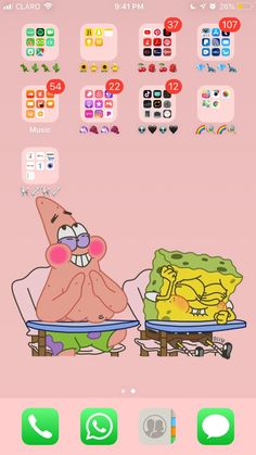 aesthetics wallpaper - iPhone aesthetic organized apps spongebob wallpaper -iPhone aesthetics wallpaper - iPhone aesthetic organized apps spongebob wallpaper - How I Organized My Own IPhone! Iphone Novo, Organize Apps On Iphone, Apps For Iphone, Android Apps, Iphone Hacks, Android Watch, Aesthetic Wallpapers, Aesthetic Iphone Wallpaper, Wallpaper Telephone