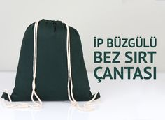 35x40 cm ip büzgülü yeşil sırt çantası