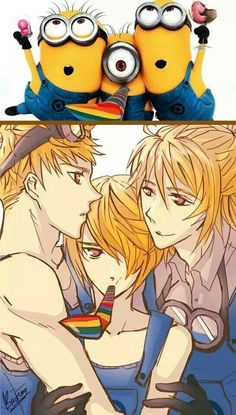 ((MINION YAOI RP IM THE MIDDLE ONE))Kevin & Stuart stop please!((open RP))