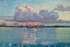 """Harbor Morning Light,"" by Rene' Wiley by Rene' Wiley Gallery Oil ~ 24 x 36"