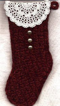 Quick 'n Easy Christmas Stocking - pattern for stocking and link to easy tree skirt too