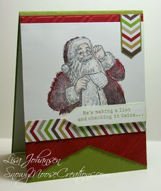 Sketchy Santa Chevrons for FM134 by Alcojo94 - Cards and Paper Crafts at Splitcoaststampers