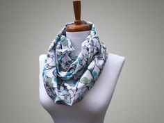 Handmade Teal Marble Print Infinity Scarf from maxandrosie.co.uk