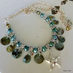 SALE  Maui Shimmer Necklace  Mother of Pearl by MangoTease on Etsy