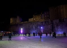 Tower of London Ice Rink. Located in the moat, the ice rink is set against the magnificent fortress battlements, providing a stunning setting for winter skating in the City.