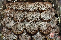 Ornamentky - kolečka s čokoládou Christmas Baking, Biscotti, Nutella, Food And Drink, Xmas, Anna, Cakes, Cake Makers, Christmas